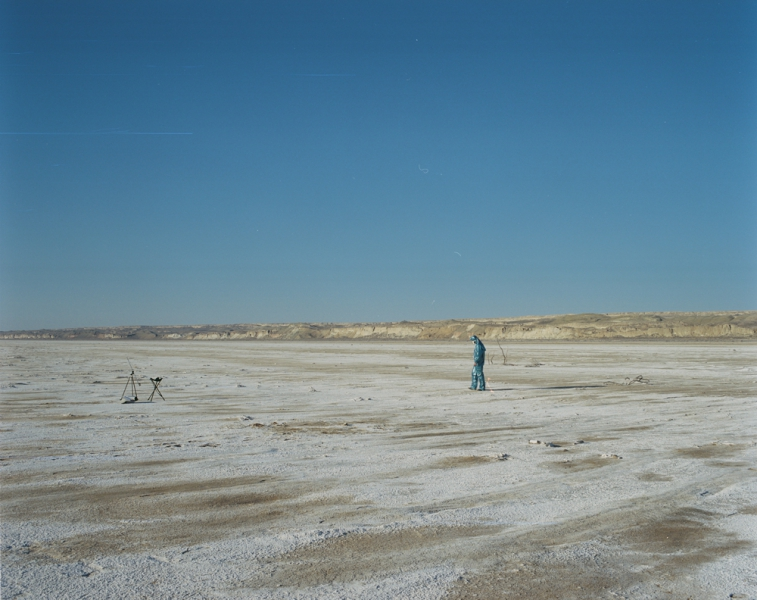 Former sea base of the Aral sea